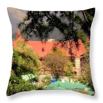 Kapurthala Palace Mussoorie Throw Pillow by Salman Ravish