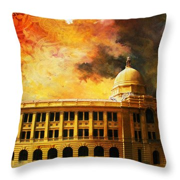 Karachi Port Throw Pillow by Catf