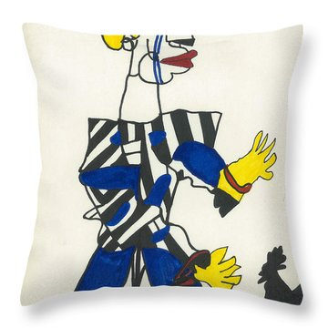 Karate Klown Throw Pillow