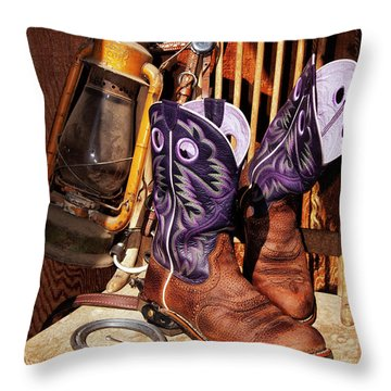 Karen's Cowgirl Gear Throw Pillow