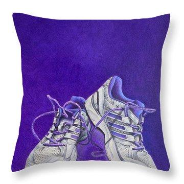 Karen's Shoes Throw Pillow by Pamela Clements
