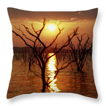 Kariba Sunset Throw Pillow