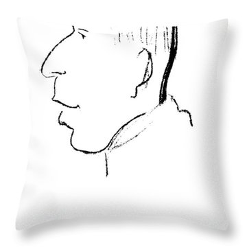 Karl Abraham (1877-1925) Throw Pillow