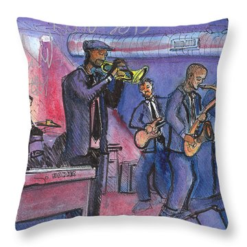 Throw Pillow featuring the painting Karl Densons Tiny Universe by David Sockrider