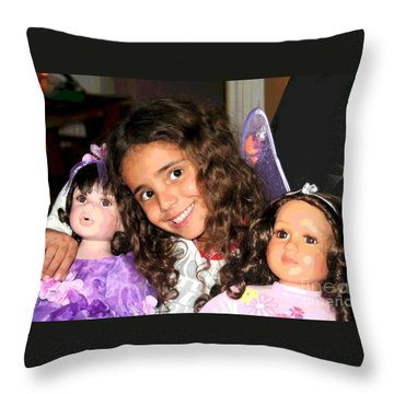 Karla's Dolls Throw Pillow