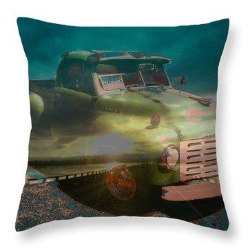 Karma Cruiser Throw Pillow by Laureen Murtha Menzl