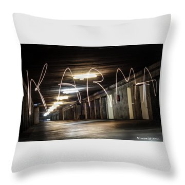 Throw Pillow featuring the photograph Karma Light Painting by Stwayne Keubrick