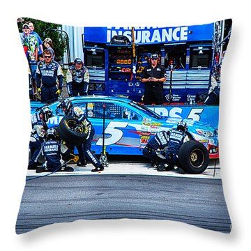 Kasey Kahne's Last Stop Before Victory Throw Pillow by Tony Cooper