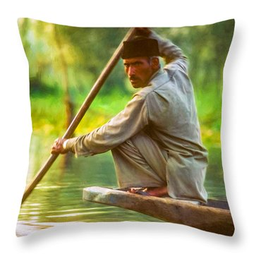Kashmir Dream Impasto Throw Pillow by Steve Harrington