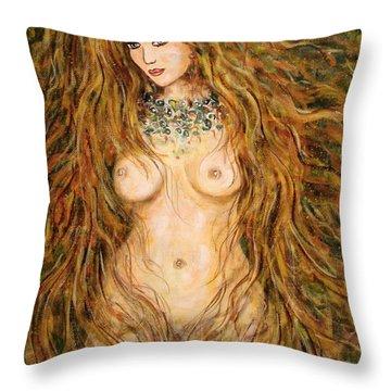 Kassandra Throw Pillow by Natalie Holland