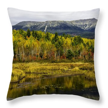 Katahdin Baxter State Park Maine Throw Pillow