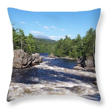 Katahdin From The Crib On The West Branch Throw Pillow