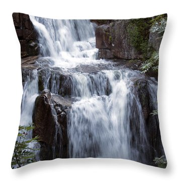 Katahdin Stream Falls Baxter State Park Maine Throw Pillow