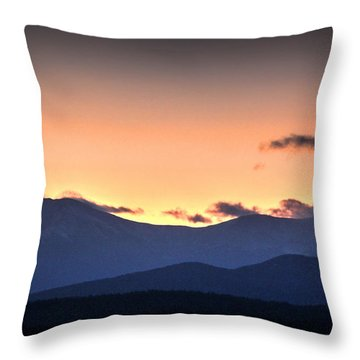 Katahdin Sunset Throw Pillow