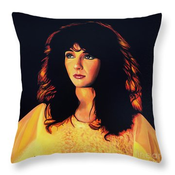 Kate Bush Painting Throw Pillow