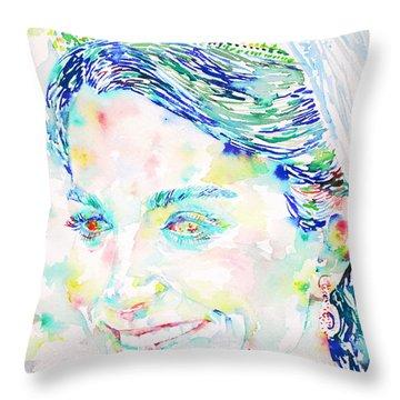 Kate Middleton Portrait.2 Throw Pillow by Fabrizio Cassetta