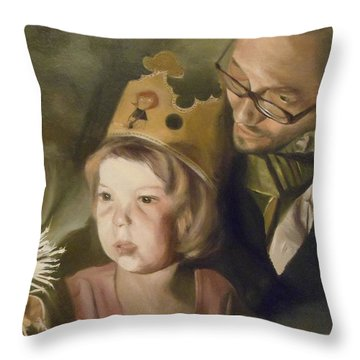 Kate's Sparkler Throw Pillow by Cherise Foster