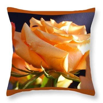 Kathy's Rose Throw Pillow