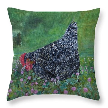 Katie In The Clover Throw Pillow