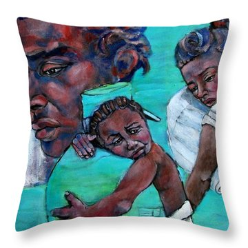 Katrina And The Days That Followed One Throw Pillow