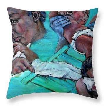 Katrina And The Days That Followed Three Throw Pillow