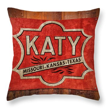 Katy Railroad Sign Dsc02853 Throw Pillow
