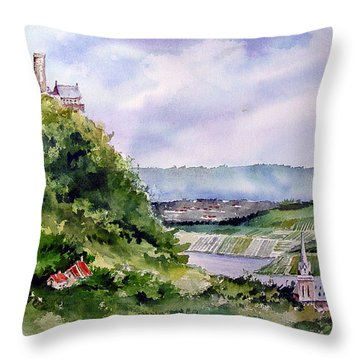 Katz Castle Throw Pillow
