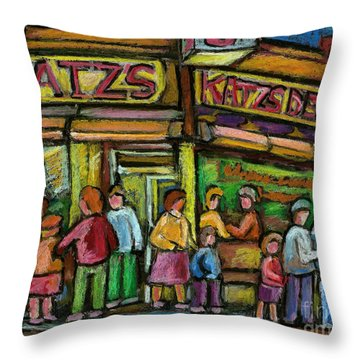 Katz's Deli Throw Pillow