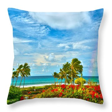Kauai Bliss Throw Pillow