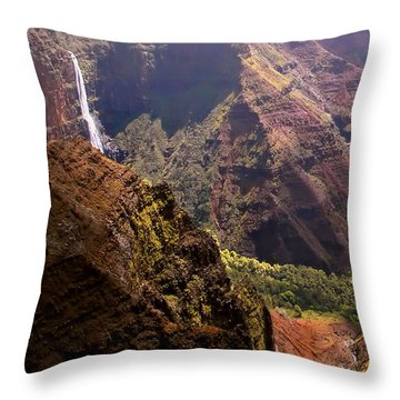Kauai Colors Throw Pillow by Katie Wing Vigil