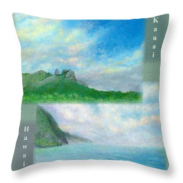 Kauai Painting Poster 2 Throw Pillow by Kenneth Grzesik