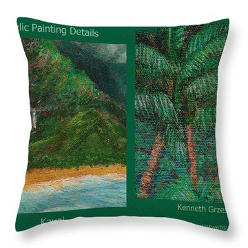 Kauai Painting Poster 3 Throw Pillow by Kenneth Grzesik