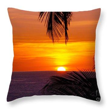 Kauai Sunset Throw Pillow