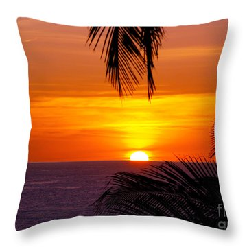 Kauai Sunset Throw Pillow by Patricia Griffin Brett