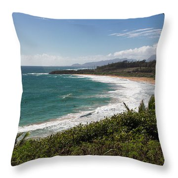 Kauai Surf Throw Pillow