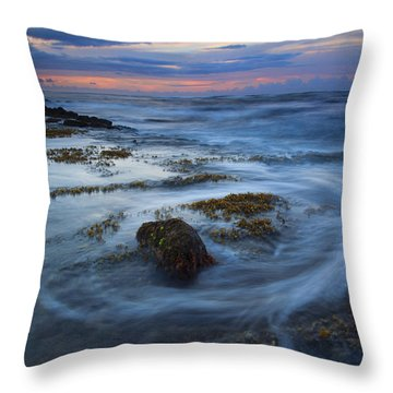 Kauai Tides Throw Pillow by Mike  Dawson