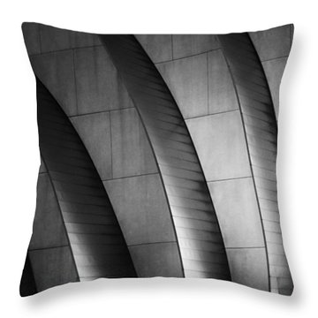 Kauffman Performing Arts Center Black And White Throw Pillow