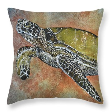 Kauila Guardian Of Children Throw Pillow by Suzette Kallen