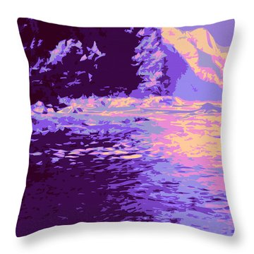 Kauluwela Moku 61 Throw Pillow by Kenneth Grzesik