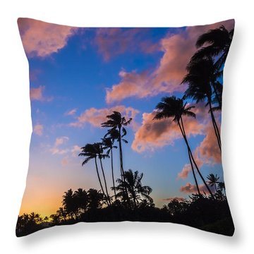 Throw Pillow featuring the photograph Kawakui Sunset 3 by Leigh Anne Meeks