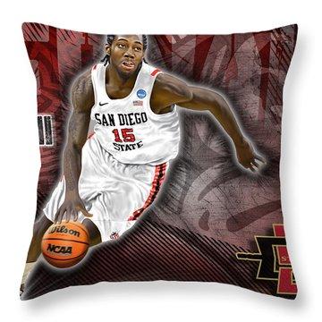 Kawhi Leonard Throw Pillow