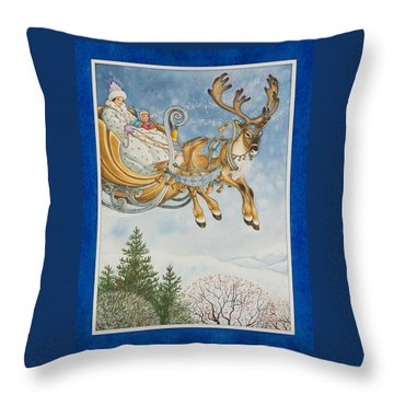 Kay And The Snow Queen Throw Pillow