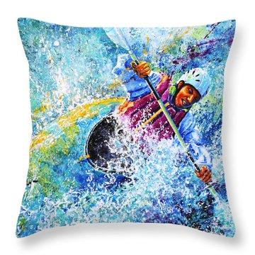Kayak Crush Throw Pillow