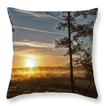 Throw Pillow featuring the photograph Kayak Morning by Margaret Palmer