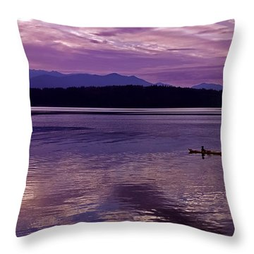 Throw Pillow featuring the photograph Kayak On Dabob Bay by Greg Reed