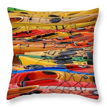 Kayak Spectrum Throw Pillow