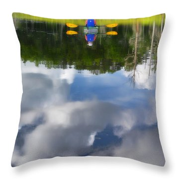 Kayaker Throw Pillow