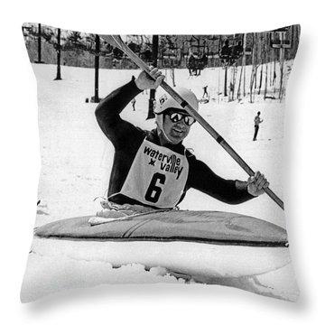 Kayaks Throw Pillows