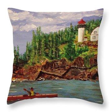 Kayaking The Coast Throw Pillow