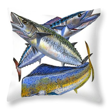 KDW Throw Pillow by Carey Chen